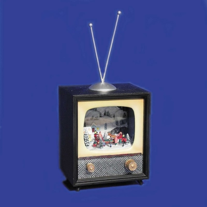 AK8175  (1-12) Телевизор муз. движ. фигурками ,с подсветкой, 12*9*25см