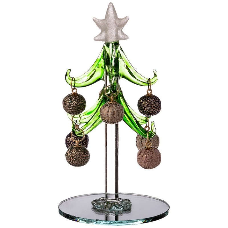 594-121  (48) Елочка декоративная с шарами высота=12см