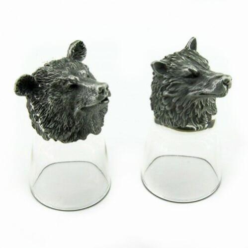 R-94702  (20)  Набор из 2-х стопок медведь+волк