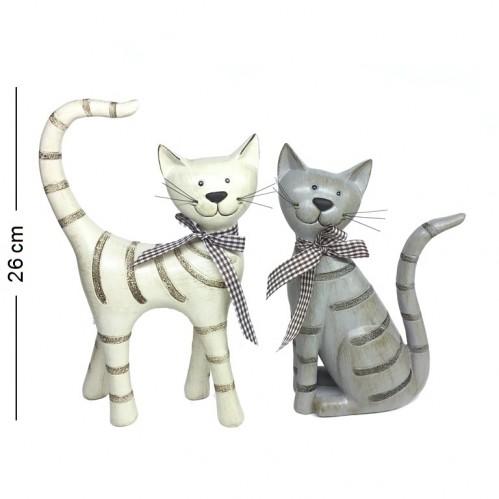 F-PK11183  (8наб) Набор из 2-х кошек, полистоун 17*6*26см