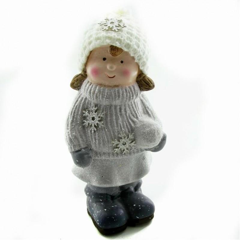 Q-25813  (1-32) Ребёнок в зимней одежде 9*8*22см