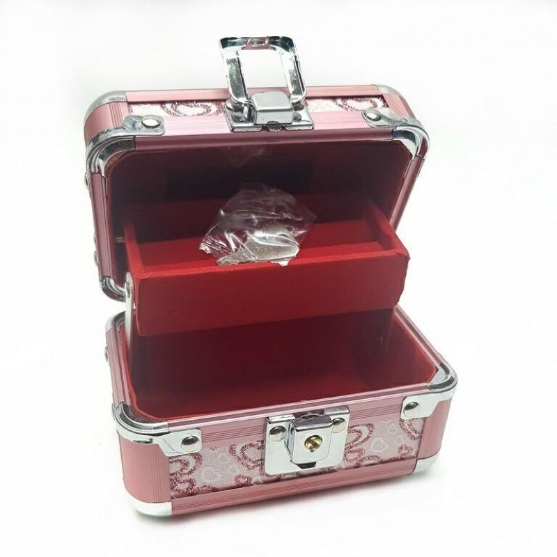 KH-1402 (80) Кейс-шкатулка для украшений, металл, 4 цвета 12*8*8см