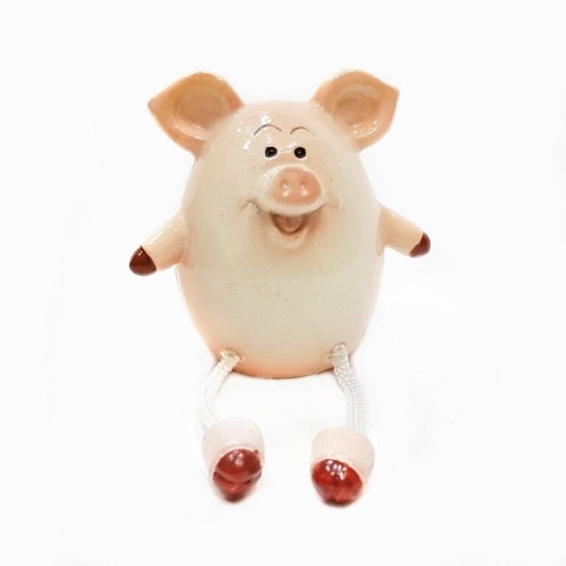 KEN78426  (4-192) Свинья с ножками 6*6*7см