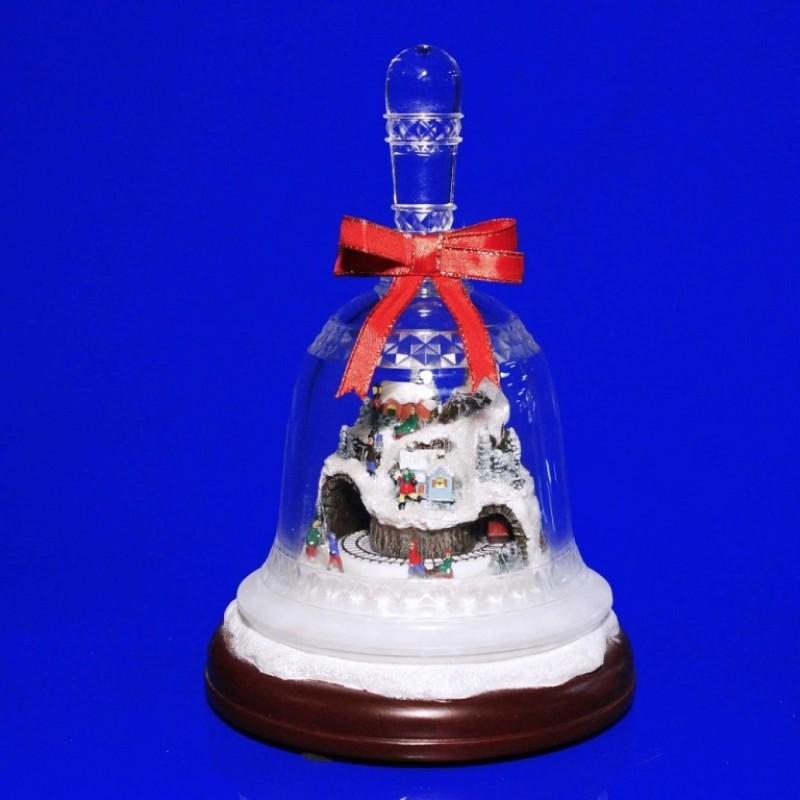 AK8357  (1-8) Новогодняя композиция Колокольчик муз,свет,движ. 15*16*22 см
