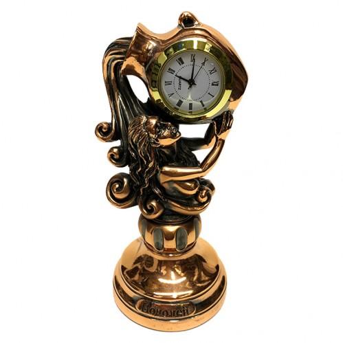 Статуэтка 1135  Часы-Знак зодиака Водолей 15 см