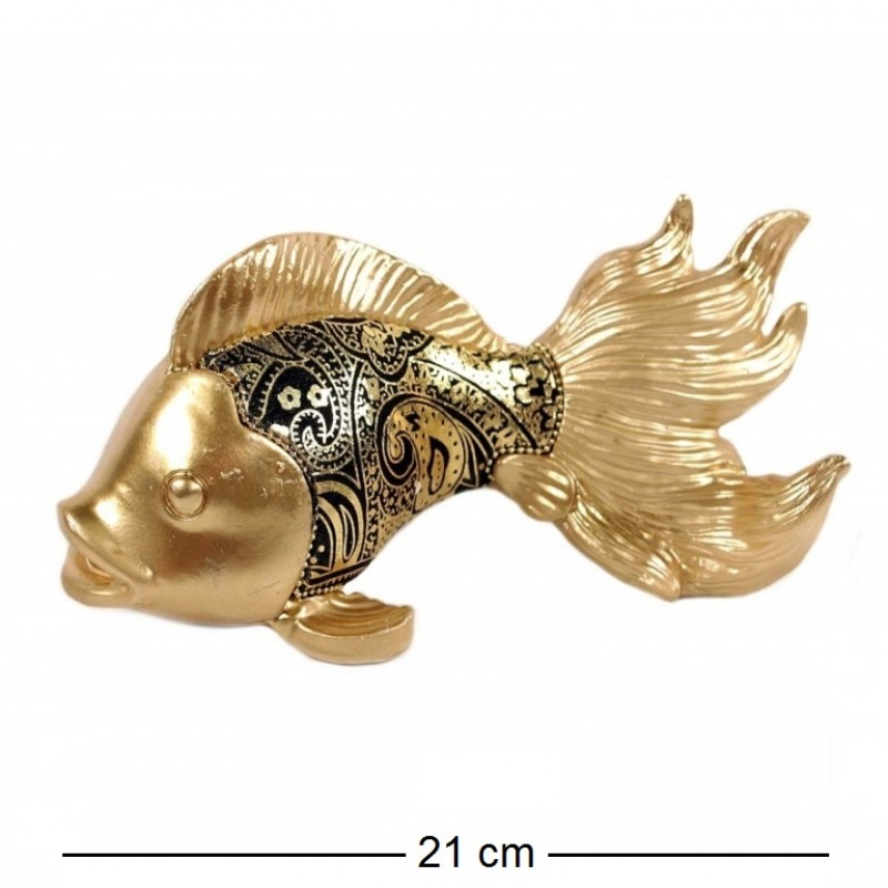 HOL20508  (1-18) Фигурка Золотая рыбка  21*10*10см