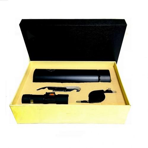 Набор  BWB006 мужской, дорожный, термов заварочный, открывалка, usb-удленитель, фонарь, 28*19*7,5см