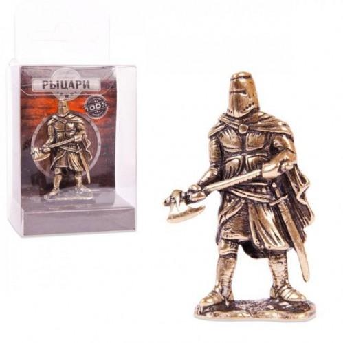 150327 Фигурка из бронзы литая Гвардеец с топором, 1:32, 4.5cm [CRU-04]