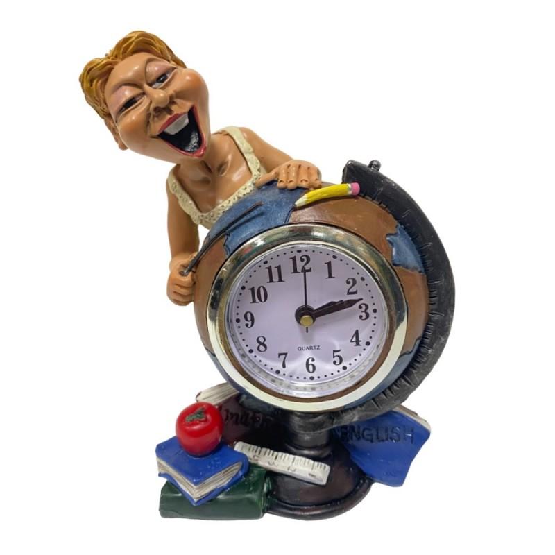 BIC4727  (1-36) Фигурка Учительница с часами  9*7*13см