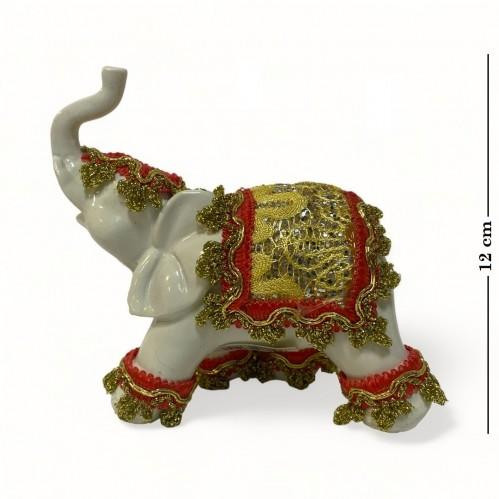 026001  (1-72) Фигурка Слон в нарядной попоне  12*6*11см