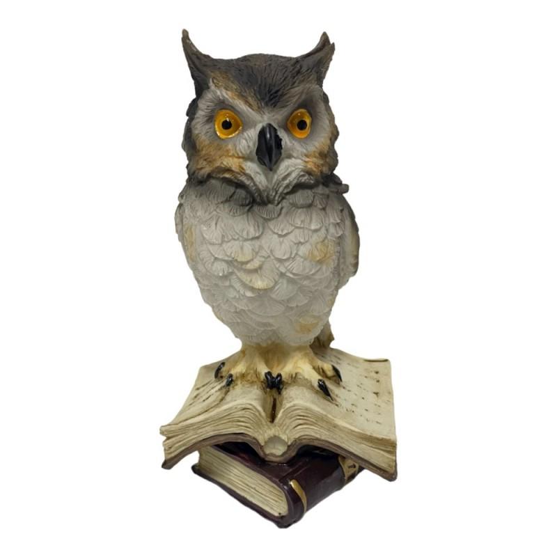 HOL18728  (1-36) Фигурка Сова на книжке  8*8*15см