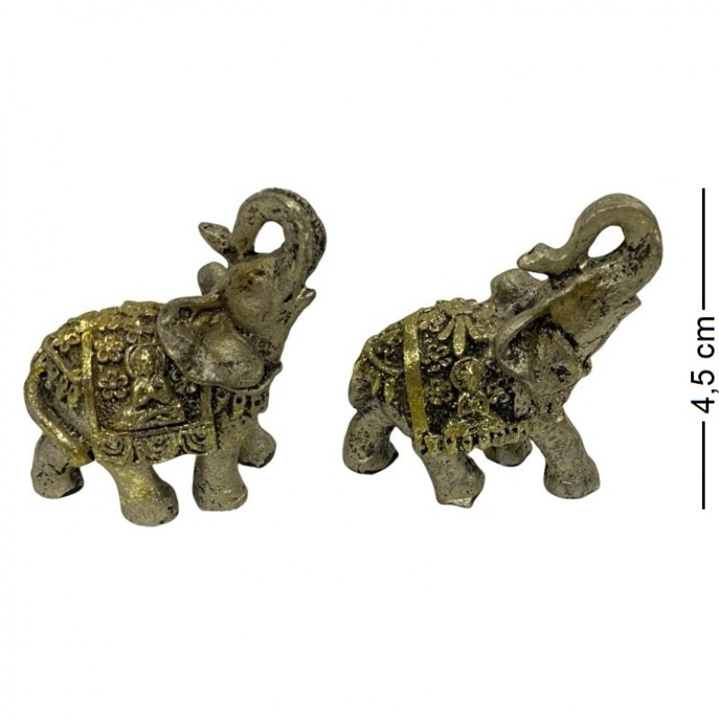 F-PK10315  (8-512) Фигурка Слон серебрянный блестящий