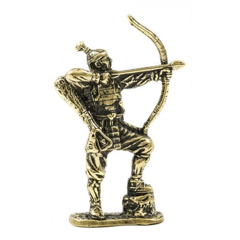 150501 Фигурка литая металлическая Самурай Тёкосабе, латунь, в подарочной упаковке