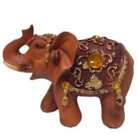 L48356  (96) Слон кор.янтарь 11см