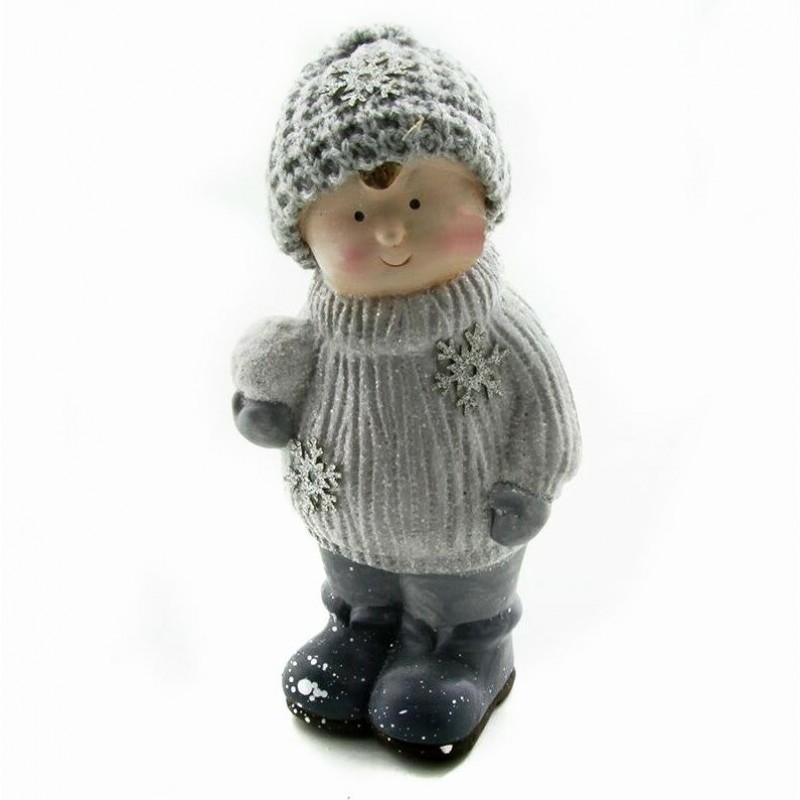 Q-25814  (1-32) Ребёнок в зимней одежде 10*8*22см