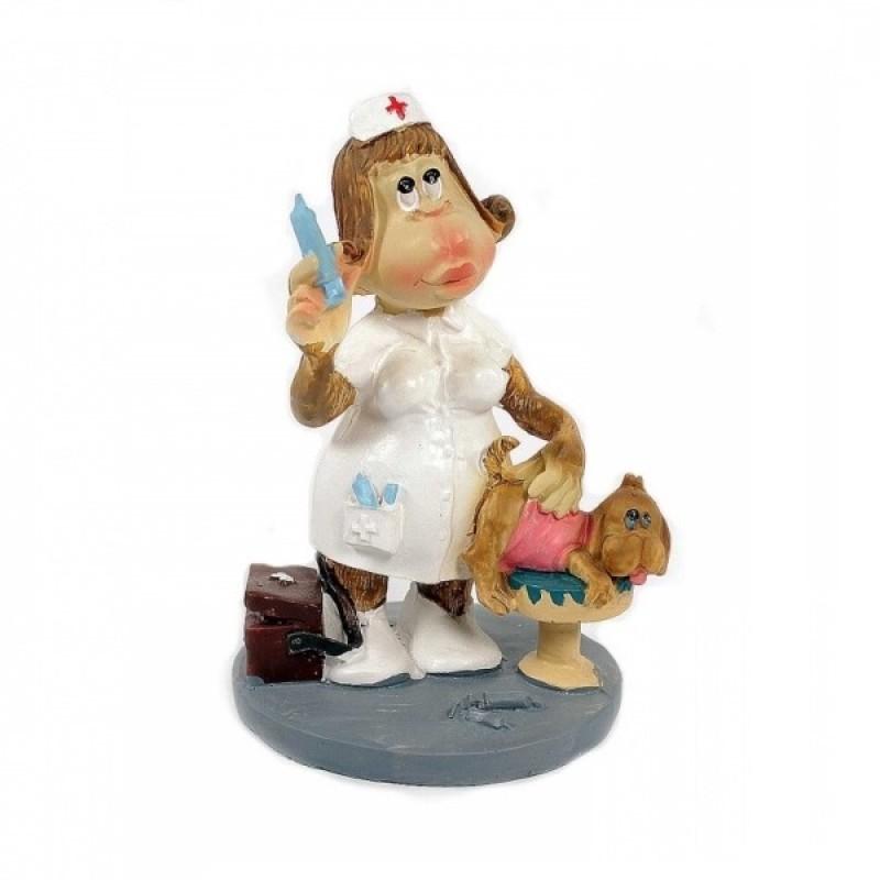 L51335  (1-72) Обезьяна медсестра 9*4.5*12.5см