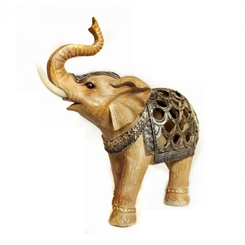 HOL21299  (1-12) Фигурка Слон со светом 21*9*21см