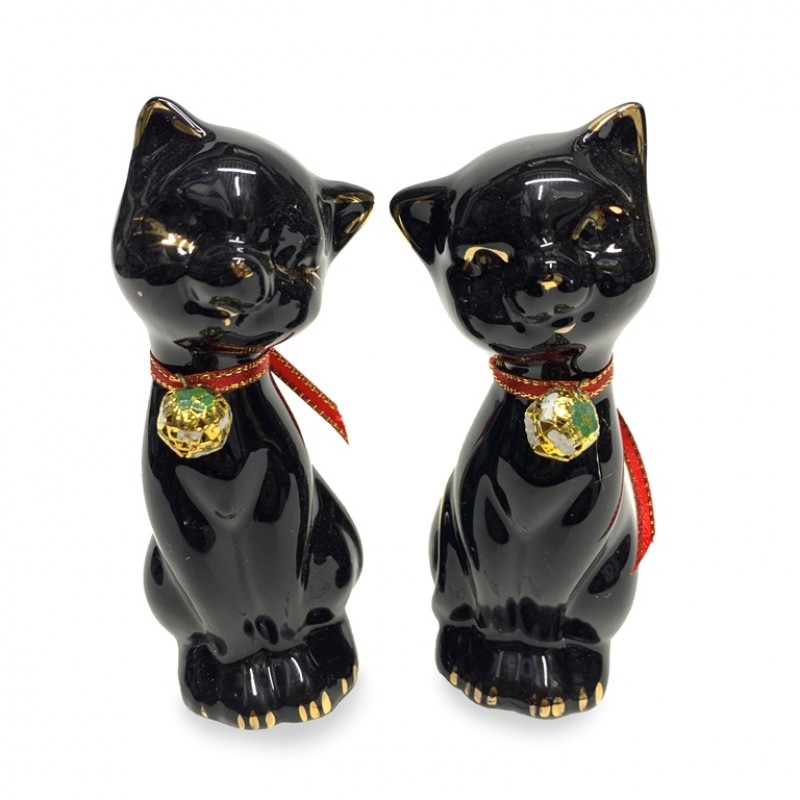KL- 556  (96) Пара кошек чёрный ф/ф