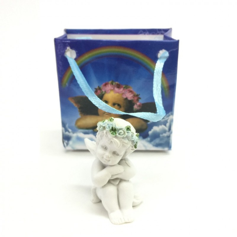 L-FK10531  (24-288) Ангел в подарочном пакете 4вида 3*3*8см