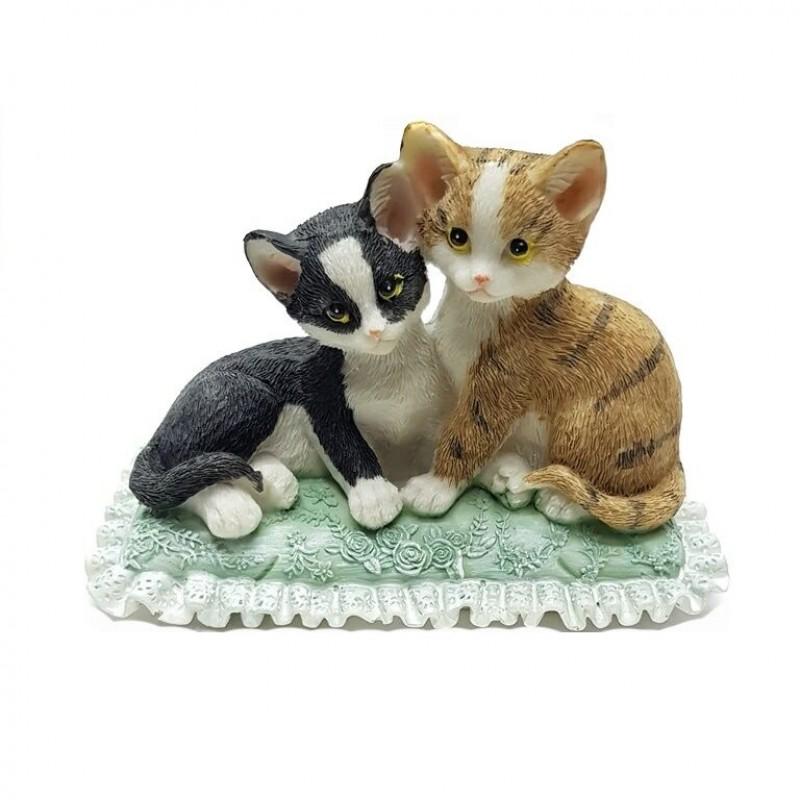 KEN78715  (1-36) Парочка кошек 13.5*8*9.5см