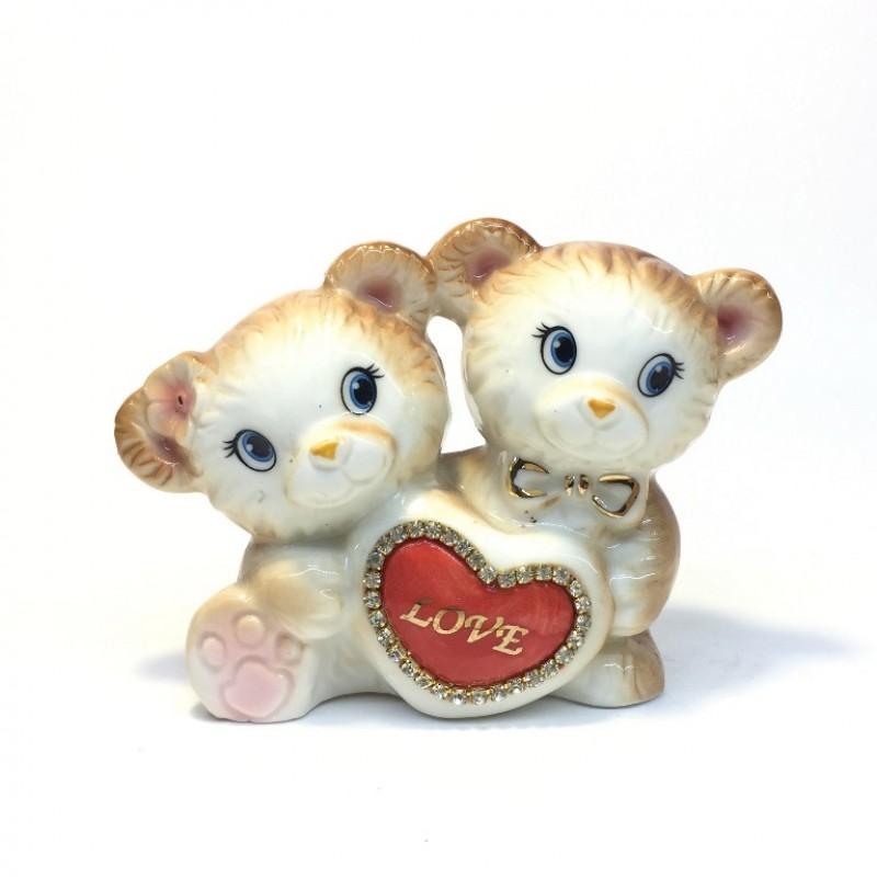 DIN2621  (1-72) Фигурка Мишки с сердцем 11*5*9см