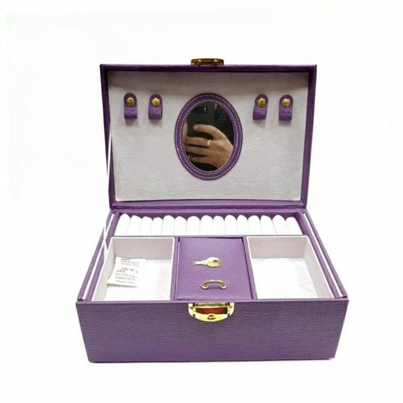 MML13884 (24) Шкатулка для украшений, фиолетовая, 25*17*12см