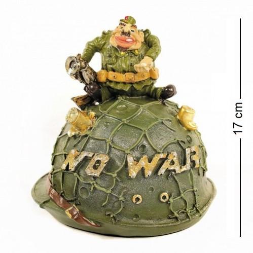 BIC4324  (1-18) Фигурка копилка  Солдат на каске  8*6*17см