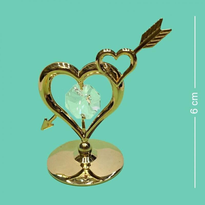 Swarovski 4739 Фигурка Два сердца 4,5*3,2*6см