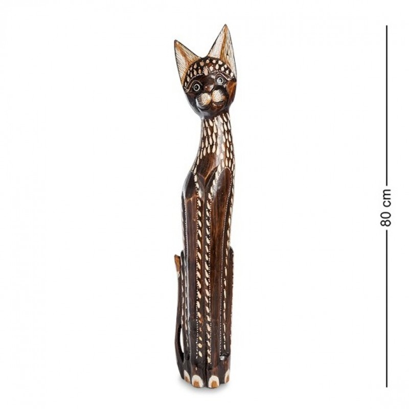 99-327 Статуэтка ''Кошка'' 80 см (албезия, о.Бали)