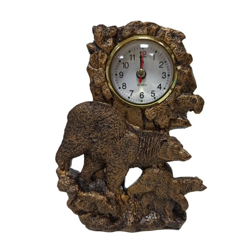 MML16127  (1-96) Часы с медведями 12*4*17 см
