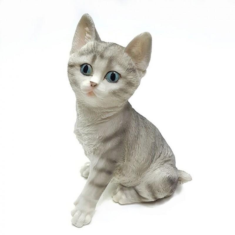 HOL20776  (1-8) Серый кот 15.5*13*20 см