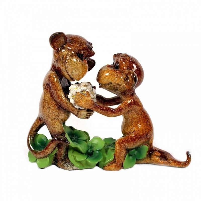 HOL20307  (24) Две обезьяны, п/камень 15*6*13см