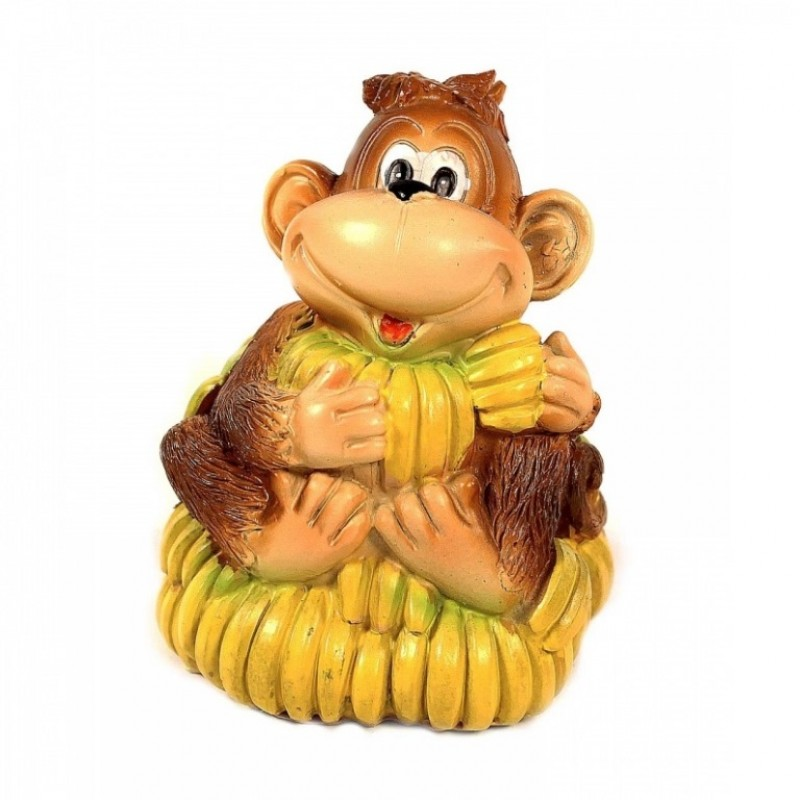 KB1899  (4-48) Копилка - обезьянка с бананами 7.8*7.5*10см