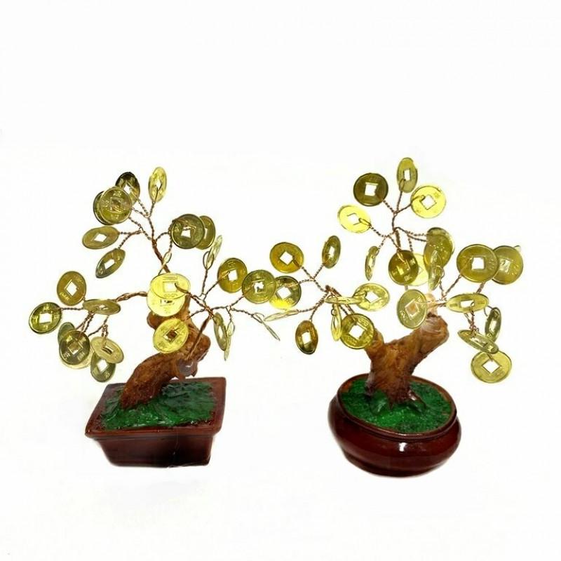 KL-.115-2  (150) Дерево денежное золотое, 2 вида h=12см