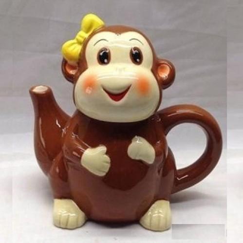 LF77325  (1-48) Чайник Обезьянка  13*7.5*11 см