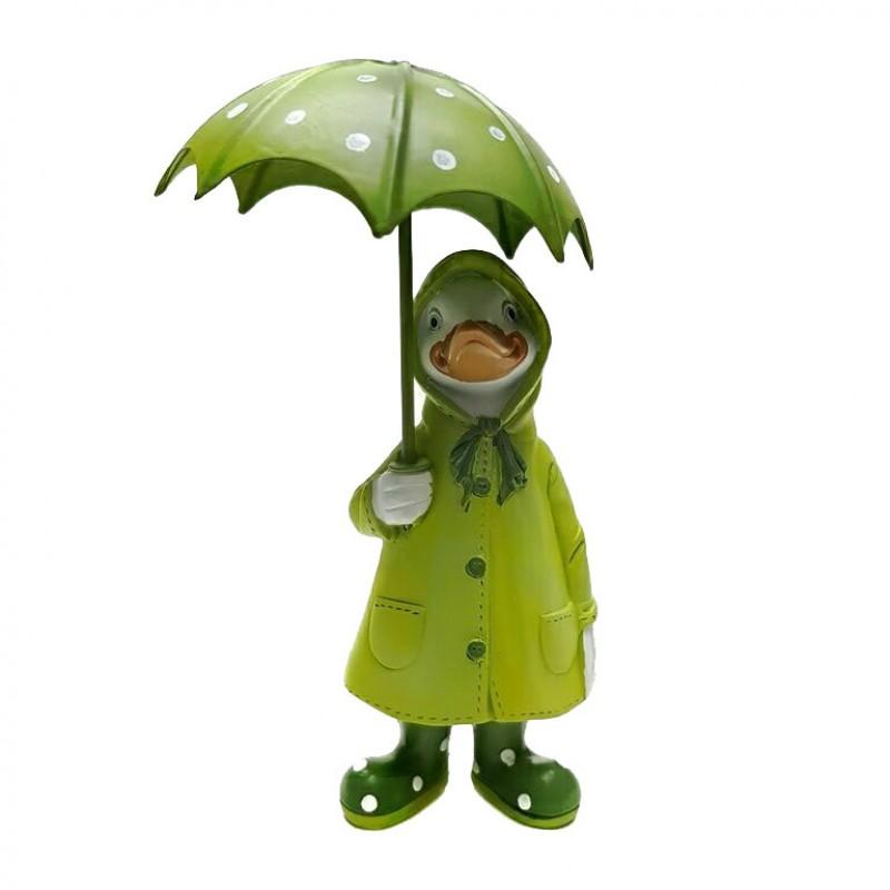 KEN78590  (1-36) Утка в плаще под зонтом 7*6*18.5 см