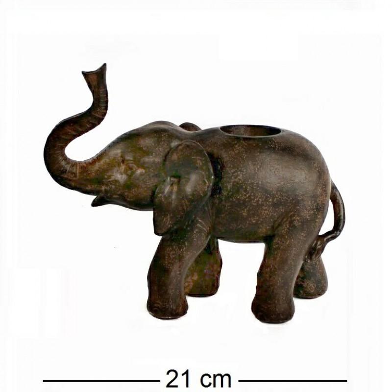 JNW6483  (8) Слон подсвечник,  21*9*18см
