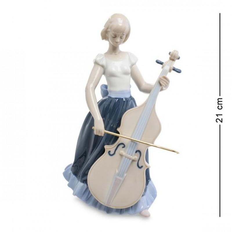 JP- 22/33 Статуэтка ''Девушка с виолончелью'' (Pavone) 21см