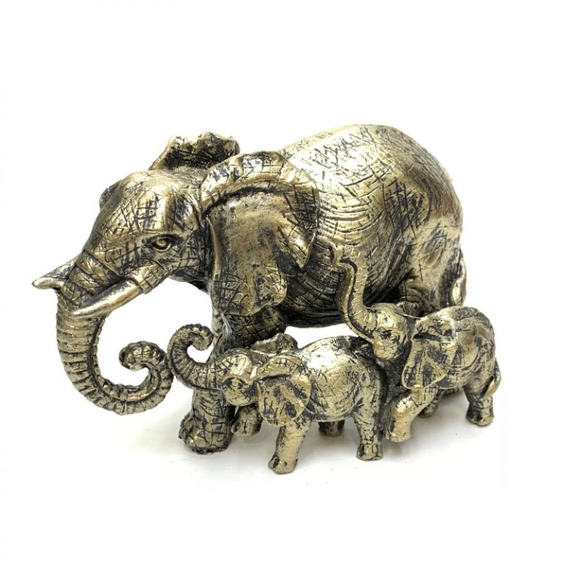 KEN78570  (1-48) Слон со слонятами 14*7*9см