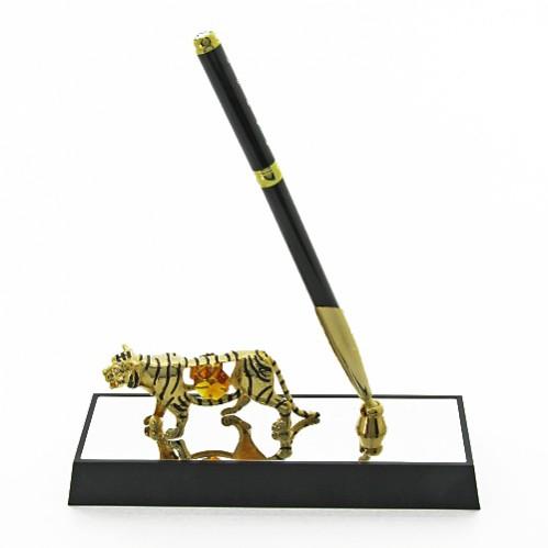 Swarovski 4593-17H3/CGT Фигурка ручка на подставке с тигром 16*6*20см