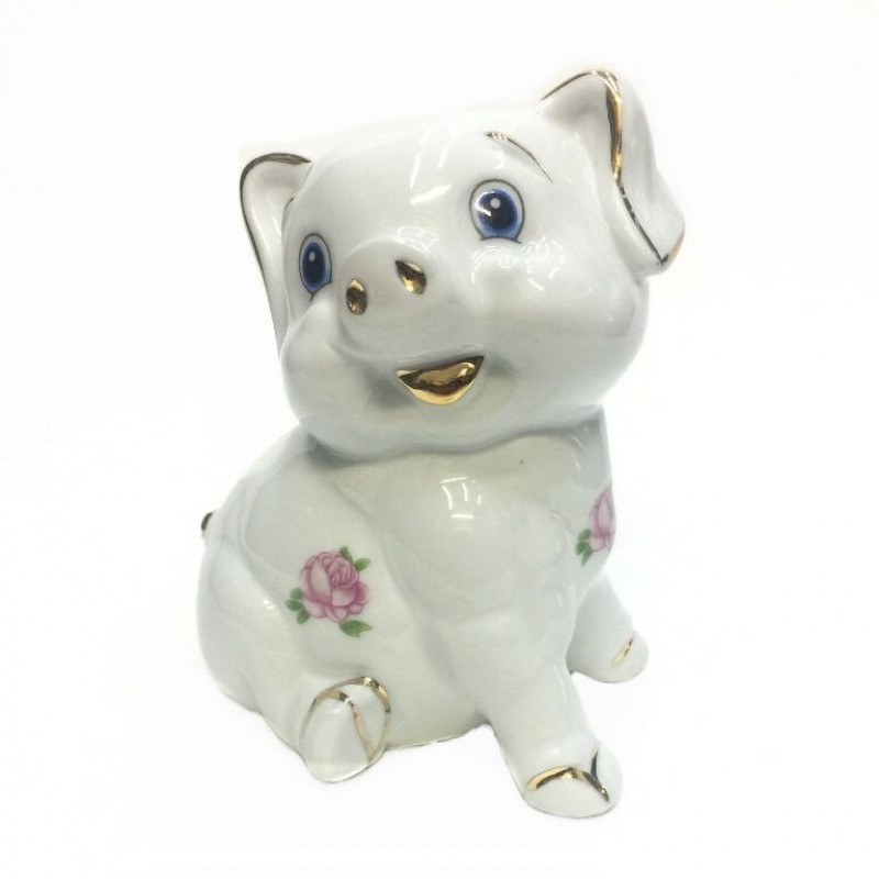 HEN27150  (1-60) Фигурка Свинка копилка, фарфор 10*9*12см