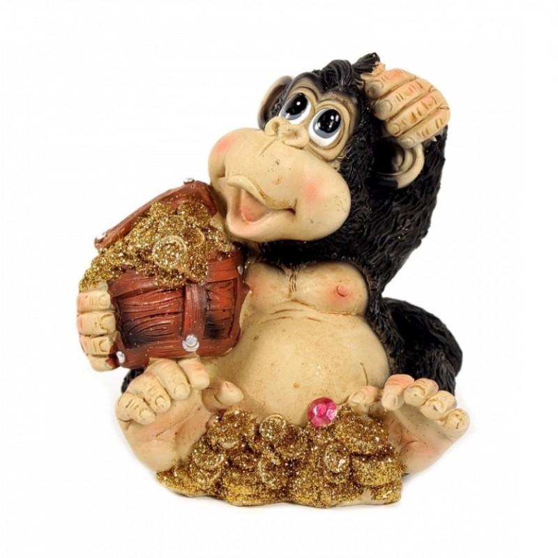 NX26617  (1-48) Копилка обезьяна 10*8,5*10см