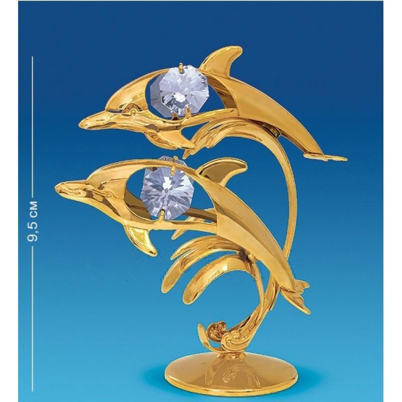 Swarovski 3522 Фигурка Два дельфина, 7*4,5*9,5см