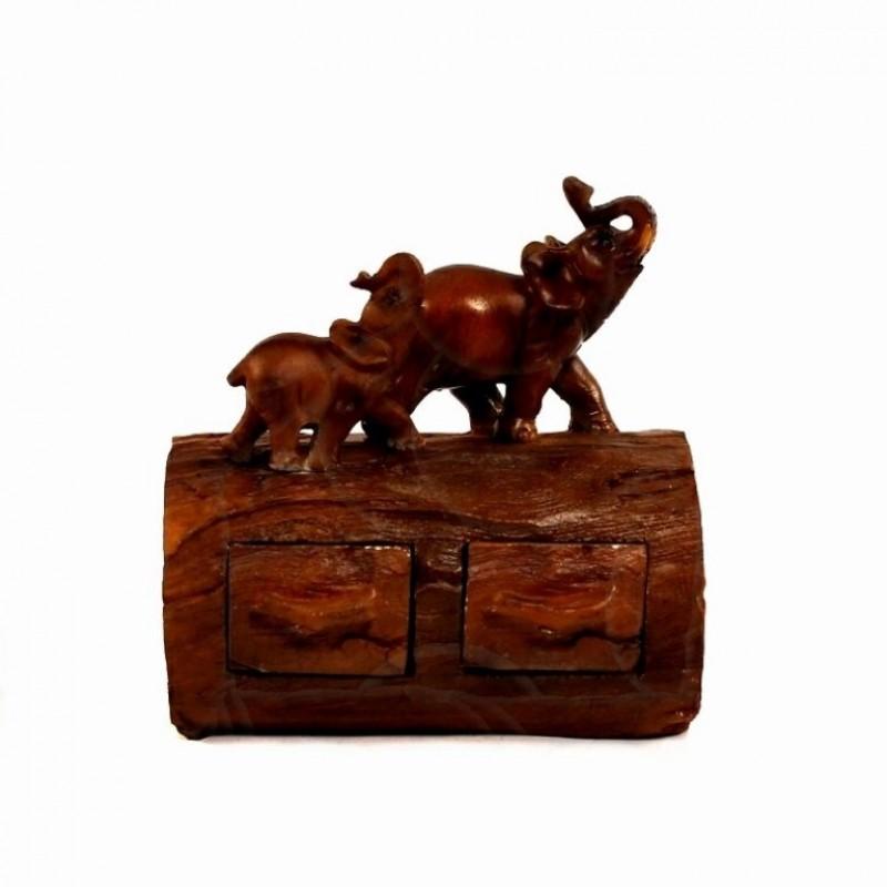 EPW31892  (1-24) Слон шкатулка  13*9*14см