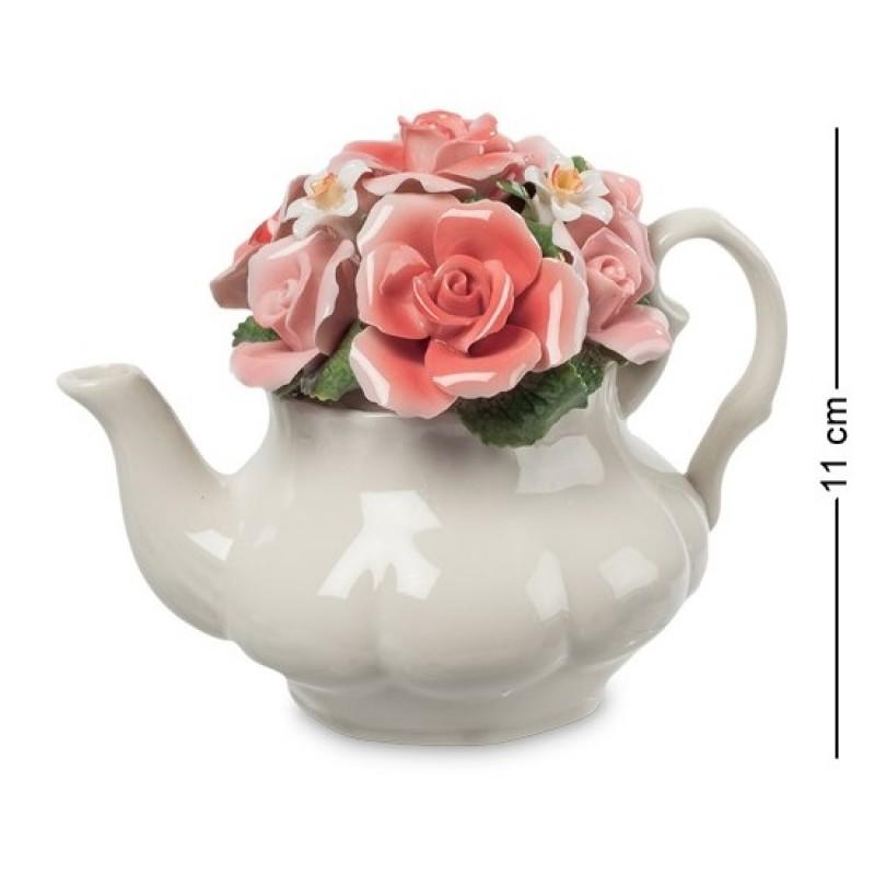 CMS-33/70 Композиция ''Чайник с цветами'' (Pavone) 11см