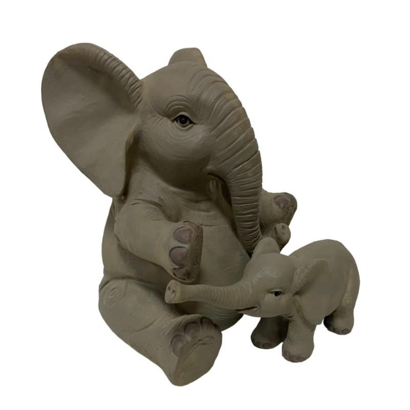 JNW6605  (1-12) Копилка слон со слонёнком 15*14*16см