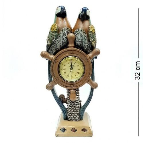 F-PK11196  (1-8) Часы с попугаями 15*10*32см