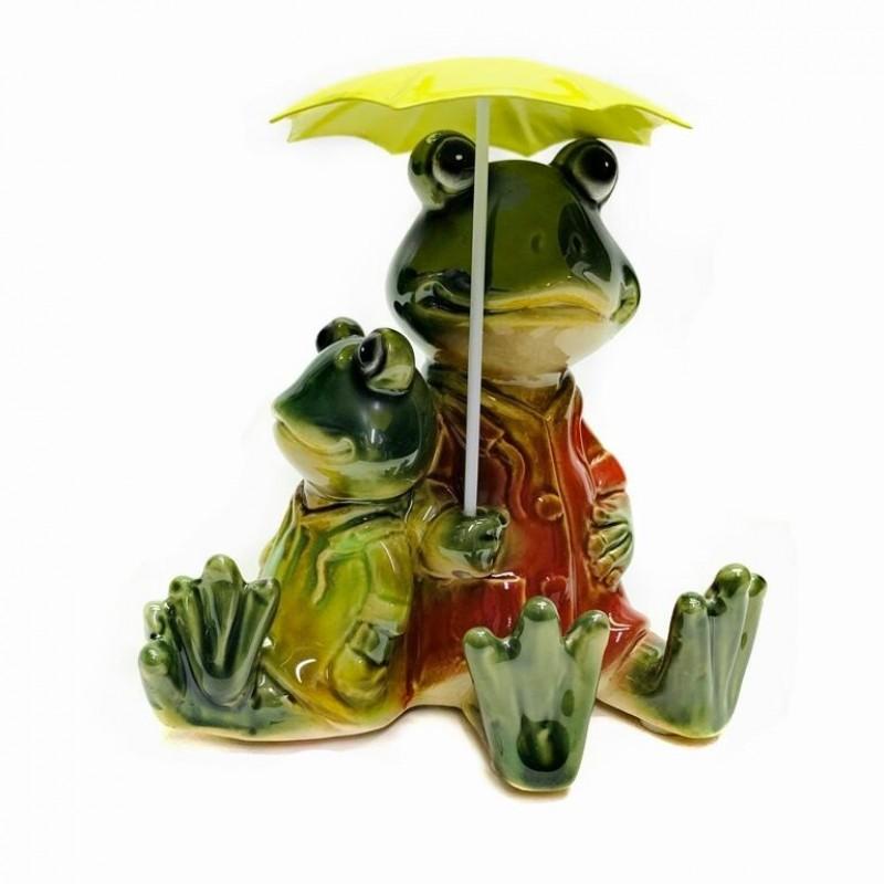 JY1985* Лягушки под зонтом 12*13 см