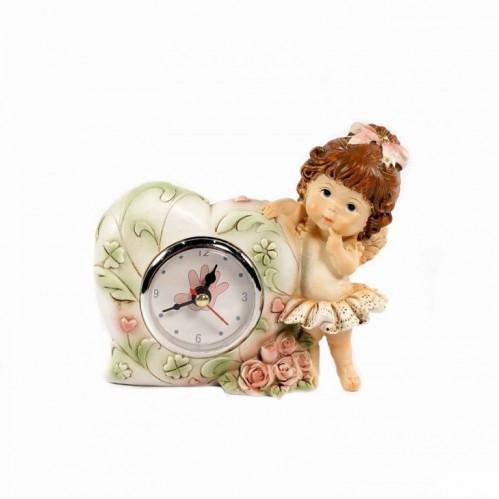 PLA17136  (1-48) Часы с девочкой 14*4*13см