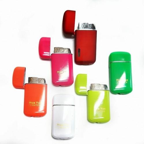 Зажигалка газовая DS-68  (25) пьезо, 6цветов, 3*6,5см